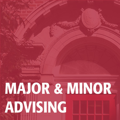 Major & Minor Advising image; click to access Major & Minor Advising page