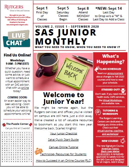 Junior September Newsletter