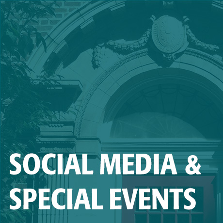 Social Media & Events image; click to access Social Media & Events page